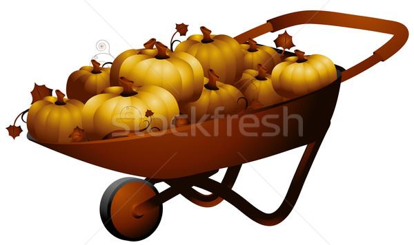 手押し車 実例 フル カボチャ 食品 コンテナ ストックフォト © lenm