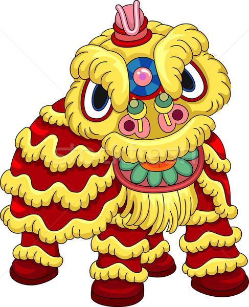 Leeuw dans kostuum illustratie man Stockfoto © lenm