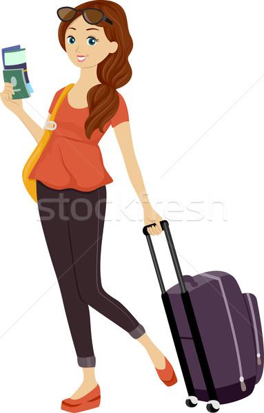 Teen Girl Traveling Stock photo © lenm