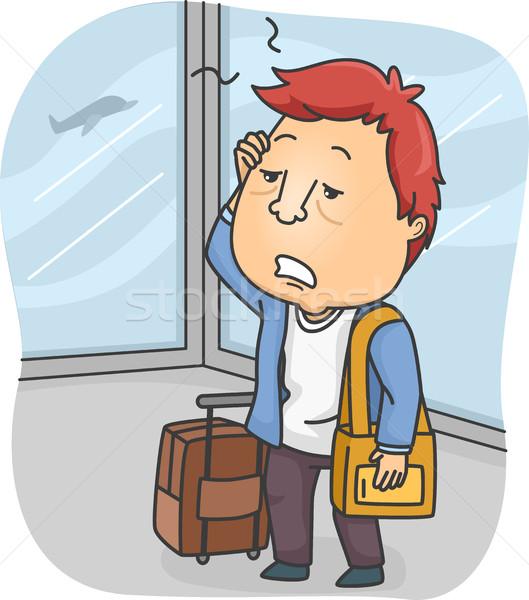 Man Tired Travel Stock photo © lenm