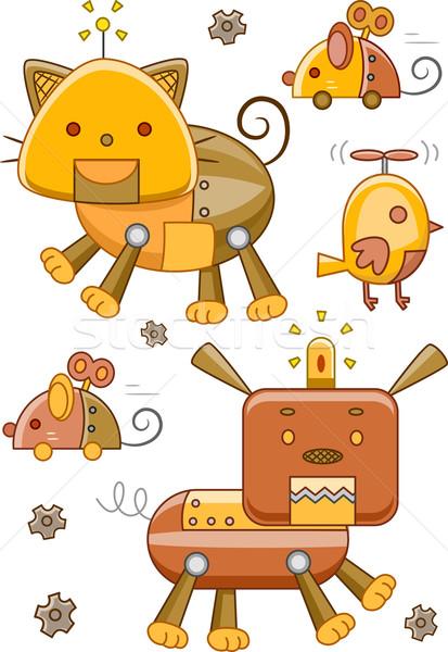 Animal Robot Steampunk Elements Stock photo © lenm