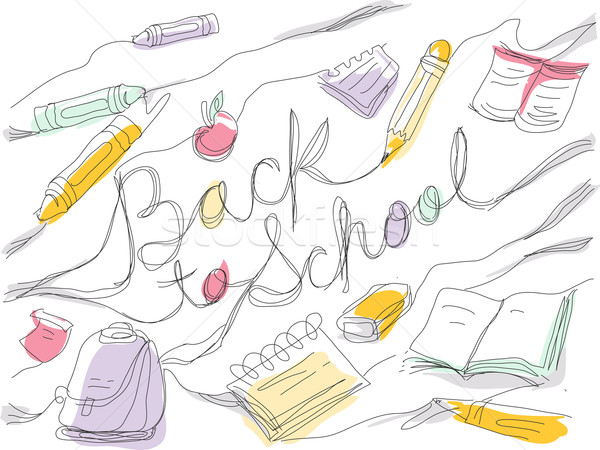 Back to School Sketch Stock photo © lenm