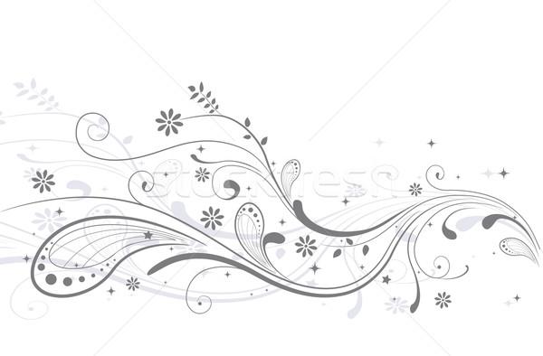 Düğün davetiyesi örnek dekore edilmiş sarmaşıklar düğün evlilik Stok fotoğraf © lenm