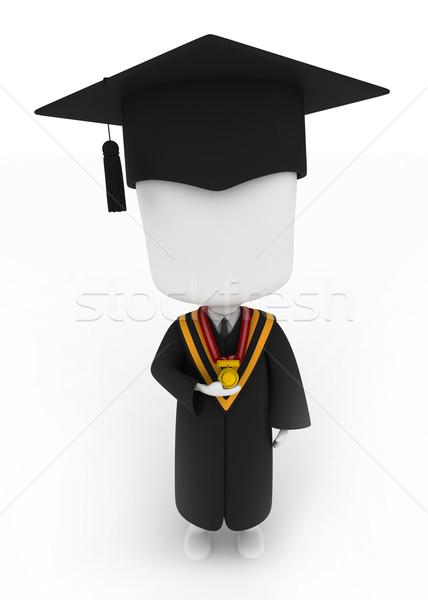 Diplômé médaille 3d illustration graduation Photo stock © lenm