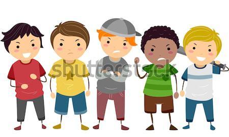 дети иллюстрация различный ребенка мальчика черный Сток-фото © lenm