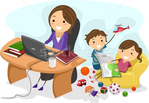 Working Mom Stock photo © lenm