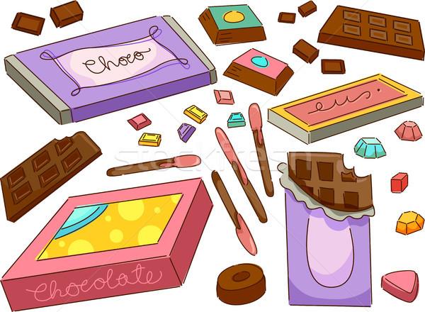 Chocolates Stock photo © lenm