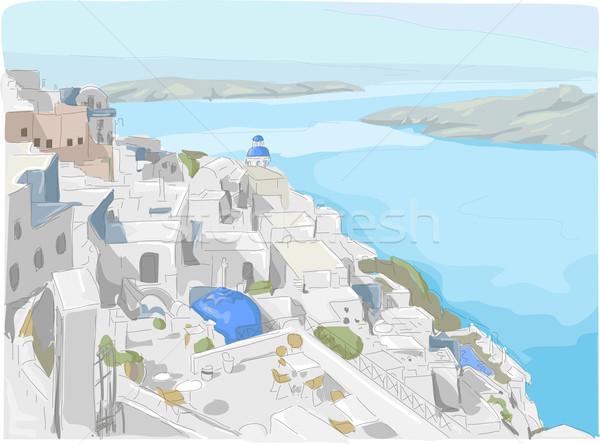 サントリーニ 実例 表示 島 ギリシャ 旅行 ストックフォト © lenm