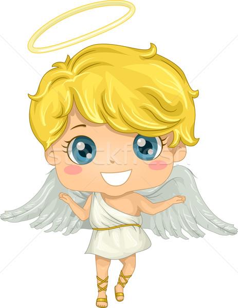 ángel nino ilustración pequeño nino jóvenes Foto stock © lenm