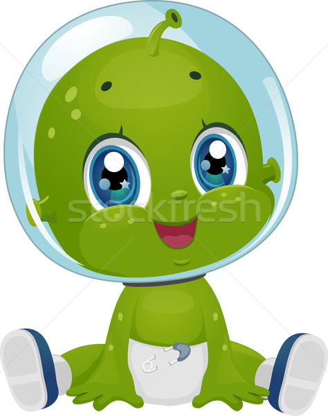 Alien Baby Boy Diaper Stock photo © lenm