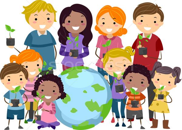 環境 認知度 キャンペーン 実例 子供 大人 ストックフォト © lenm