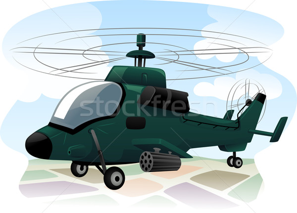 Assault Helicopter Stock photo © lenm