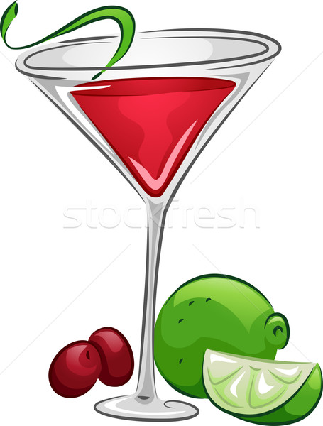 Italok kozmopolita illusztráció ital citrus áfonya Stock fotó © lenm