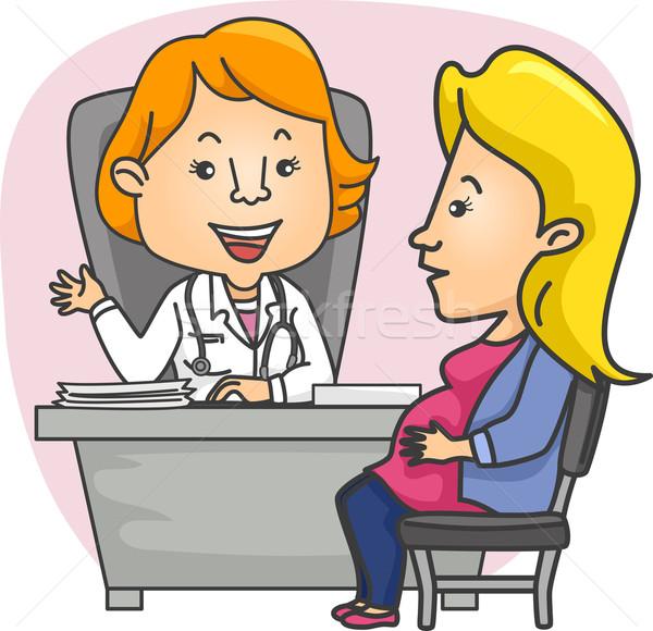Kızlar hamile danışmak doktor örnek kız Stok fotoğraf © lenm