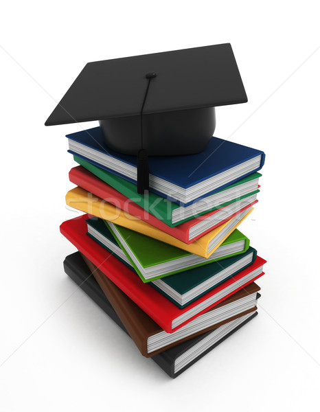 Books and Graduation Cap Stock photo © lenm