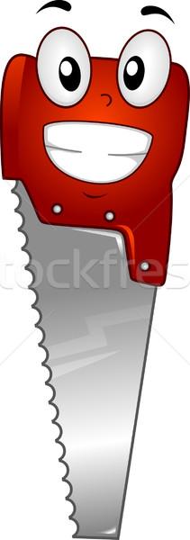 Zag mascotte illustratie cartoon vector clip art Stockfoto © lenm