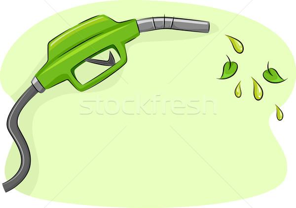 Biocombustibles ilustración boquilla naturaleza Cartoon Foto stock © lenm