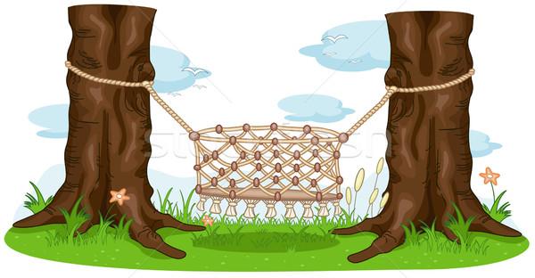 Wieg illustratie lege natuur cartoon clipart Stockfoto © lenm
