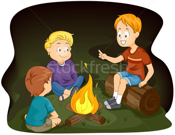 Illustrazione ragazzi in giro bambini bambino Foto d'archivio © lenm