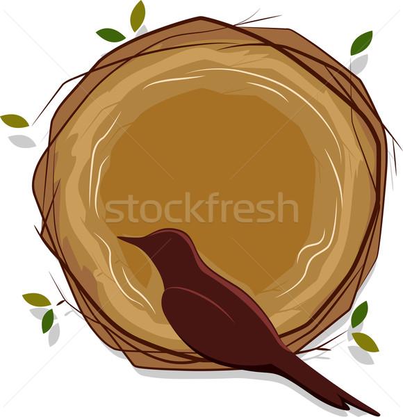 örnek kuş oturma yuva Stok fotoğraf © lenm