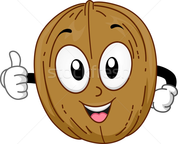 Mascot Walnut Stock photo © lenm