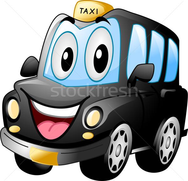 Kabala fekete taxi illusztráció mosolyog művészet Stock fotó © lenm