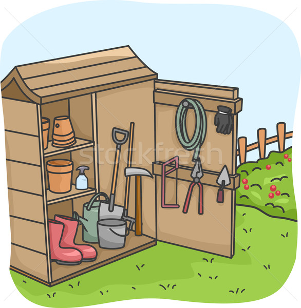 Stock photo: Garden Tool Shed