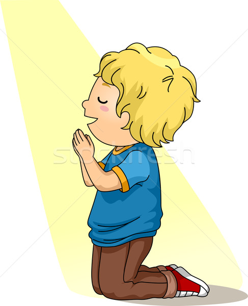 Kid Boy Pray Stock photo © lenm