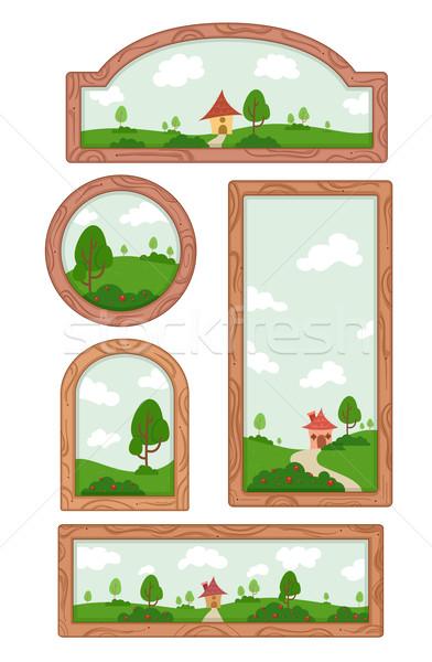 Wooden Frame Elements Stock photo © lenm