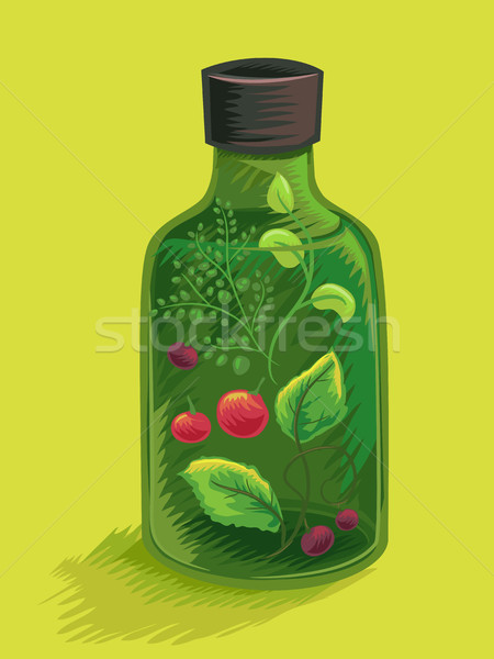 Herbal Mix Bottle Stock photo © lenm