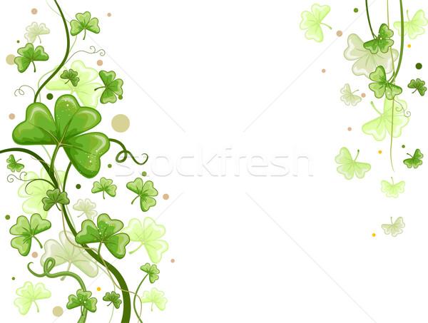 Shamrock desenho de fundo vines trevo plantas férias Foto stock © lenm