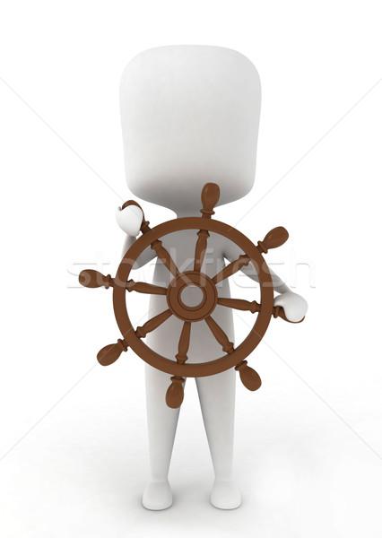 Man Sailing Stock photo © lenm