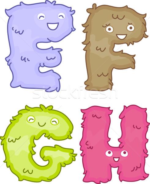 Alfabeto felpa juguetes ilustración como Foto stock © lenm