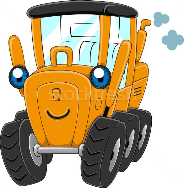 Moteur illustration heureux construction génie vapeur Photo stock © lenm