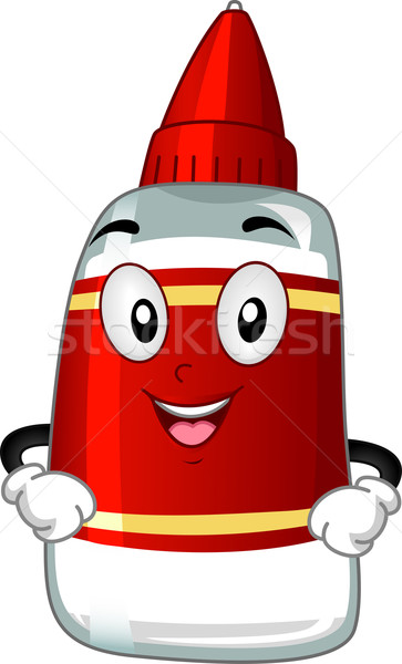 Stock photo: Glue Mascot