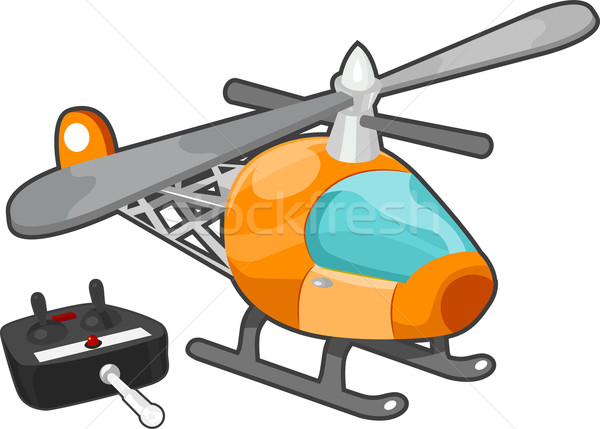Remote Controlled Toy Helicopter Stock photo © lenm