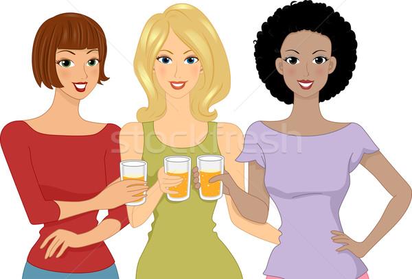 Beer Girls Stock photo © lenm