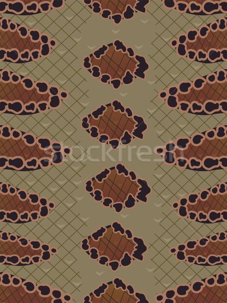 Yılan hayvan baskı arka plan örnek cilt Stok fotoğraf © lenm