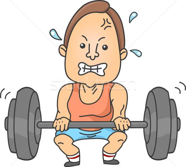 человека тяжелая атлетика иллюстрация вверх Сток-фото © lenm