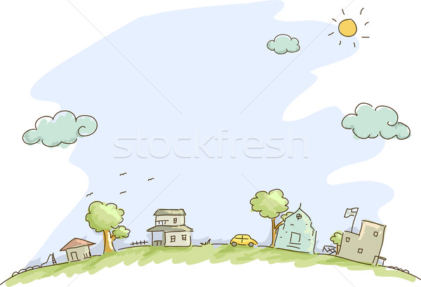Community Sketch Background Stock photo © lenm