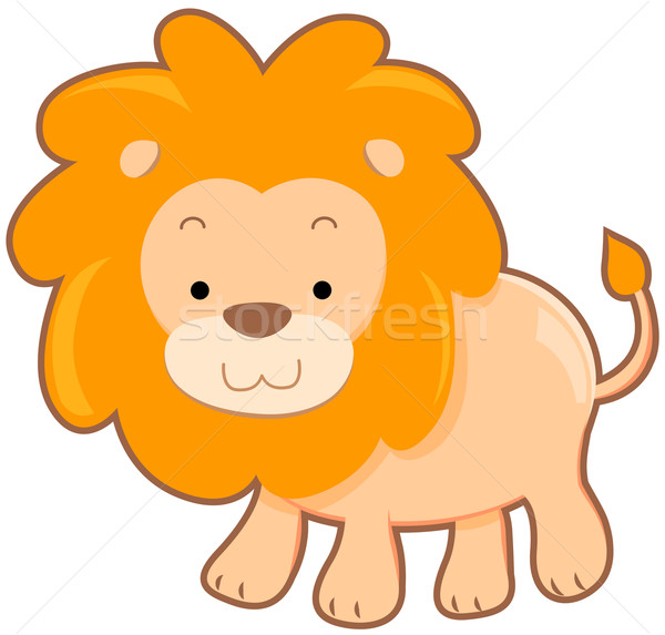 Cute Lion Stock photo © lenm
