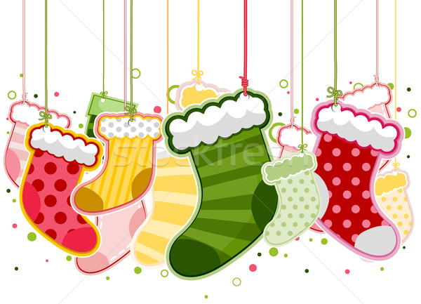 Christmas Stockings Stock photo © lenm