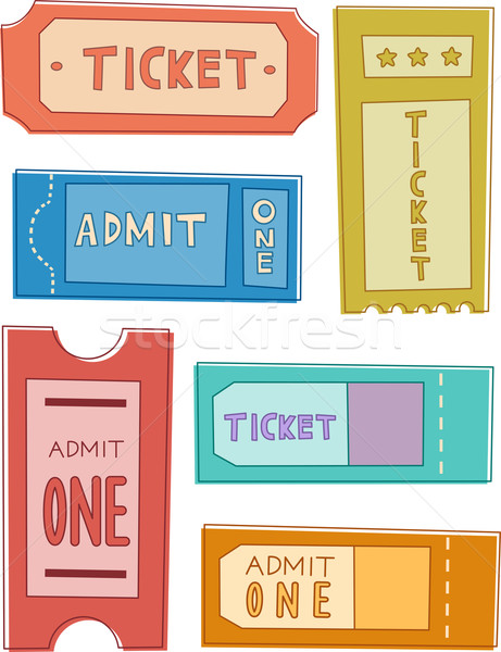 Bilet dizayn elemanları örnek hazır baskı Stok fotoğraf © lenm