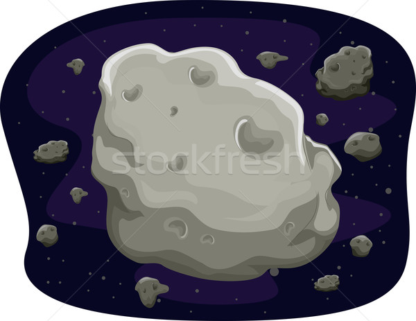 Asteroids Stock photo © lenm