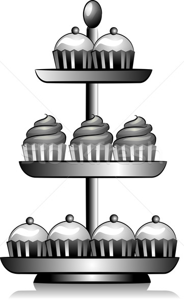 Cupcake Tower Icon Stock photo © lenm