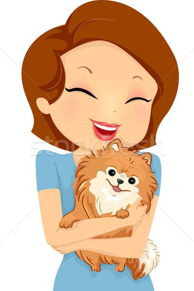 Dog Hug Stock photo © lenm