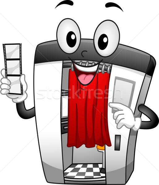 Foto cabine mascote ilustração arte Foto stock © lenm