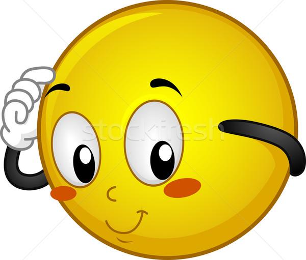 Verlegen illustratie web Geel emotie Stockfoto © lenm