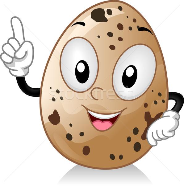 Quail Egg Mascot Stock photo © lenm