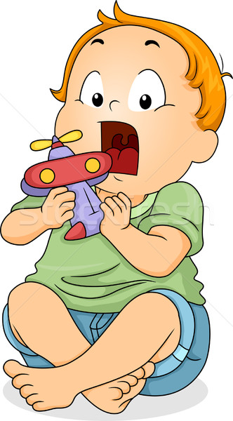 Baby Toy Mouth Stock photo © lenm